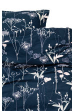 Patterned duvet cover set - Dark blue/Floral - Home All | H&M IE 2
