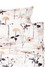 Patterned duvet cover set - White/Floral - Home All | H&M CN 3