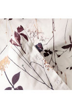 Patterned duvet cover set - White/Floral - Home All | H&M CN 2