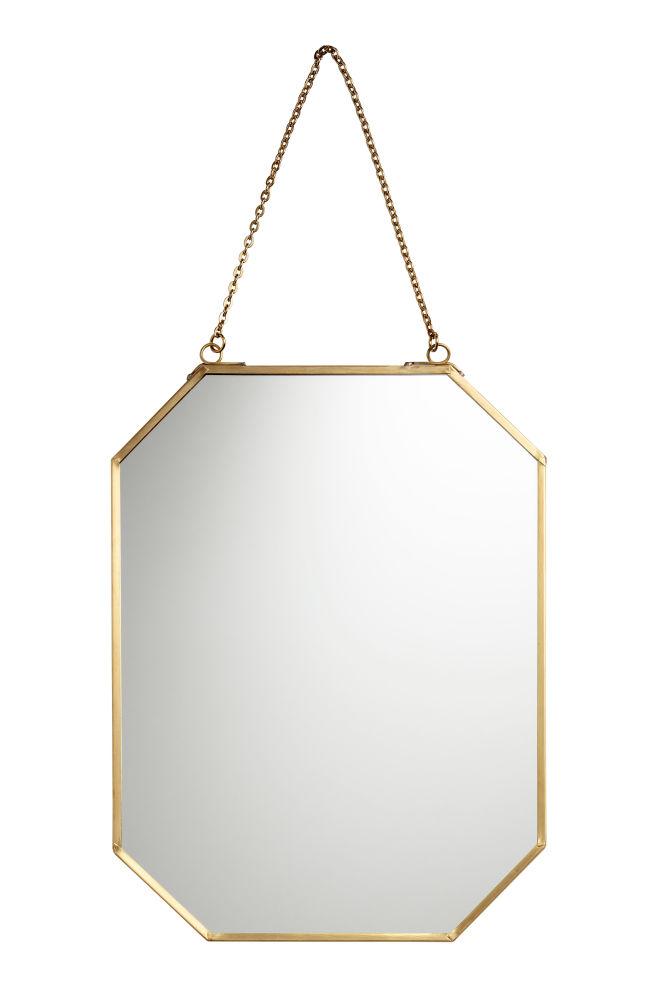 Espejo con marco de metal - Dorado - HOME | H&M ES