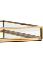 Metal tray with glass sides - Gold - Home All | H&M CN 3