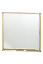 Metal tray with glass sides - Gold - Home All | H&M CN 2