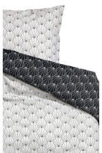 Patterned Duvet Cover Set - Light grey/Black - Home All | H&M CA 2