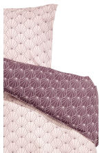 Patterned Duvet Cover Set - Light pink/Purple - Home All | H&M CA 2