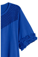 H&M+ Jersey top with lace yoke - Bright blue - Ladies | H&M 3