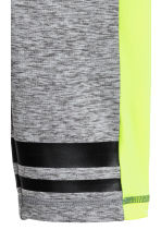 3/4-length sports tights - Dark grey marl -  | H&M 4