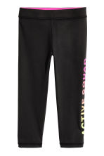 3/4-length sports tights - Black - Kids | H&M CN 2