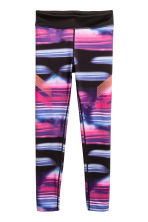 Sports tights - Purple/Multicoloured -  | H&M 2