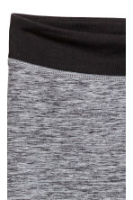 Sports tights - Dark grey/Black marl - Kids | H&M CN 3