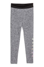 Sports tights - Dark grey/Black marl - Kids | H&M CN 2