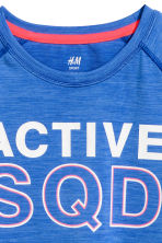 Short-sleeved sports top - Bright blue - Kids | H&M CN 3