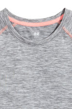 Short-sleeved sports top - Grey marl - Kids | H&M 3