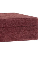 Rectangular suede box - Burgundy - Home All | H&M CN 3