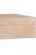 Rectangular suede box - Camel - Home All | H&M IE 4