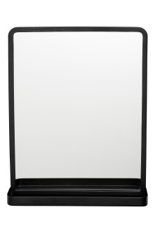 Mirror with a metal shelf