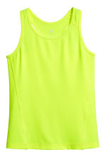 Sports top - Neon yellow - Kids | H&M IE 2