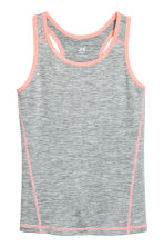 Sports top - Dark grey - Kids | H&M 2