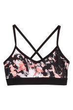 Sports top - Black/patterned - Kids | H&M CA 1
