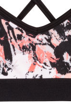Sports top - Black/patterned - Kids | H&M CA 2