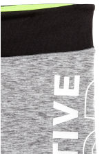 Short sports tights - Grey marl - Kids | H&M 3
