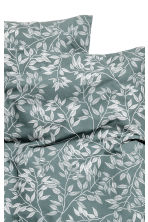 Patterned duvet cover set - Khaki green - Home All | H&M CN 3