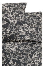 Patterned duvet cover set - Anthracite grey - Home All | H&M CN 2