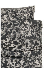 Patterned duvet cover set - Anthracite grey - Home All | H&M CA 2