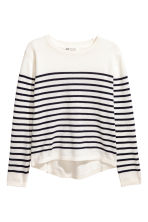 Fine-knit jumper - White/Blue striped - Kids | H&M 2