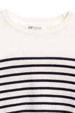 Fine-knit jumper - White/Blue striped - Kids | H&M 3