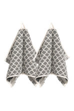 Lot de 2 essuie-mains - Gris anthracite - HOME | H&M CH 1