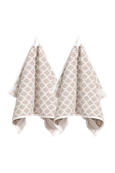 2-pack guest towels - Mole - Home All | H&M CN