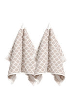 2-pack guest towels - Mole - Home All | H&M CN 1