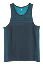 Seamless running vest - Dark blue - Men | H&M 2