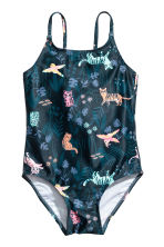 Fully lined swimsuit - Black/Patterned - Kids | H&M 1