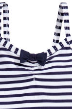 Swimsuit with a frill - Dark blue/Striped - Kids | H&M 2