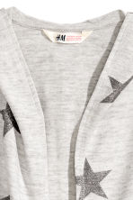 Hooded cardigan - Light grey marl/Stars - Kids | H&M CN 4