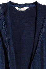 Hooded cardigan - Dark blue - Kids | H&M CN 3