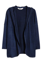 Hooded cardigan - Dark blue - Kids | H&M CN 2