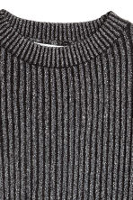 Ribbed jumper - Black/Glittery - Kids | H&M CN 3