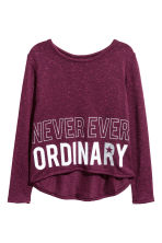 Fine-knit printed jumper - Plum -  | H&M 2