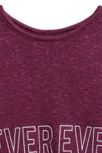 Fine-knit printed jumper - Plum -  | H&M 3