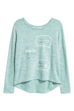 Fine-knit printed jumper - Translucent - Kids | H&M CN 1