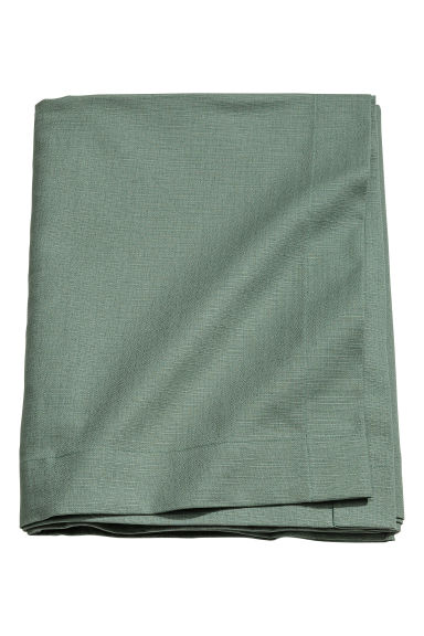 Slub-weave tablecloth - Dusky green - Home All | H&M CA 1