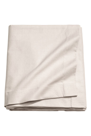 Slub-weave tablecloth - Light beige - Home All | H&M CA 1