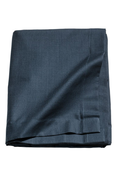 Slub-weave tablecloth - Dark blue - Home All | H&M GB 1