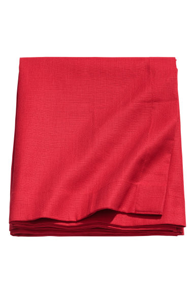 Slub-weave tablecloth - Red - Home All | H&M CN