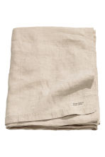 Washed linen tablecloth - Linen beige - Home All | H&M CN 1