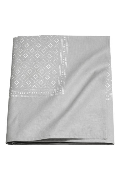 Nappe en coton à motif - Gris clair - Home All | H&M FR 1