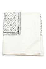Patterned cotton tablecloth - White - Home All | H&M CN 1