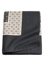 Patterned tablecloth - Anthracite grey - Home All | H&M CN 1